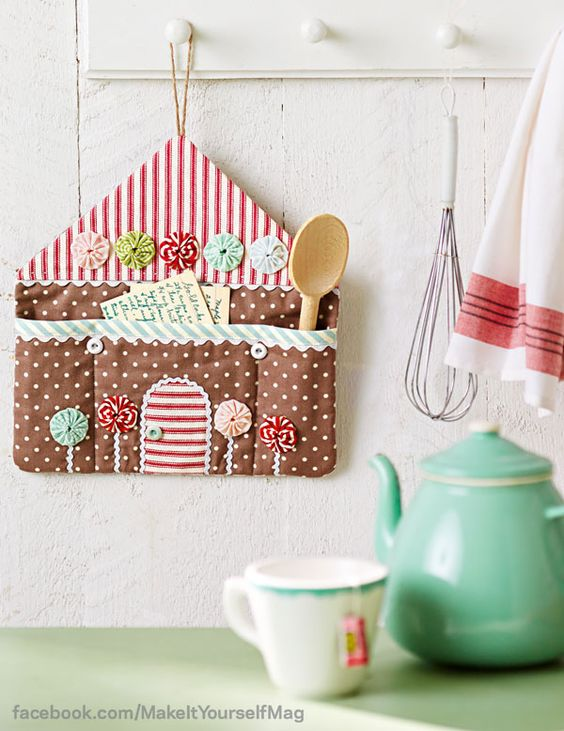 Handmade fabric gingerbread house: