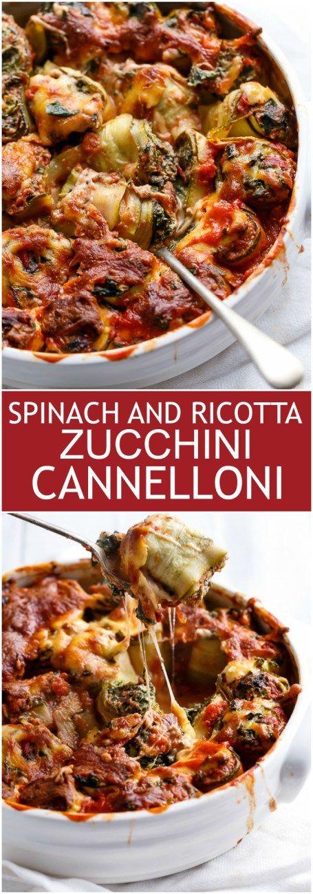 Spinach And Ricotta Zucchini Cannelloni | Recipe | Ricotta, Creamy ...