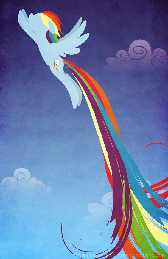 Rainbow Dash poster final design.