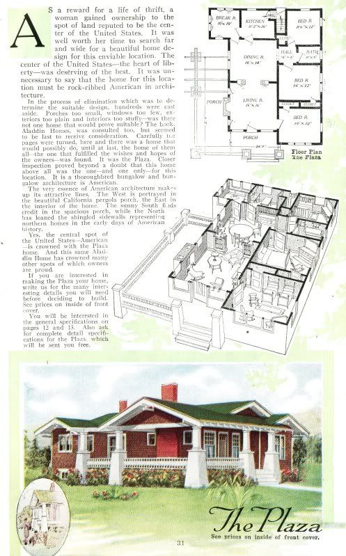 aladdin plaza as shown in 1919 aladdin catalog - 1919 House Plans