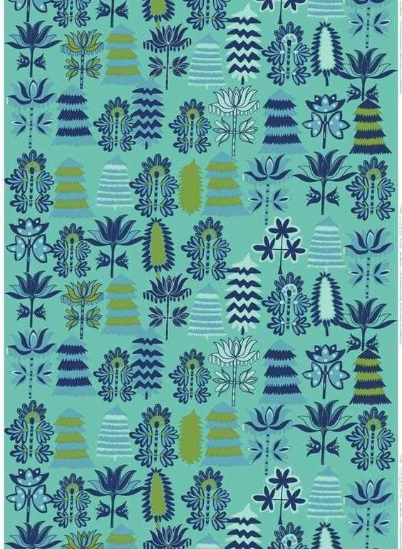 Marimekko Autumn 2012. Satumetsä (Fairy tale Forest), Design: Teresa Moorhouse