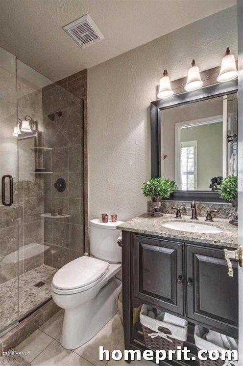 20 Fabulous Shower Bathroom Ideas That Steal Your Focus Bathroom Design Small Master Bathroom Makeover Small Bathroom Remodel Designs