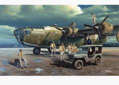 B24 Consolidated Liberator Bomber by Carlos Garcia Fine Art Print