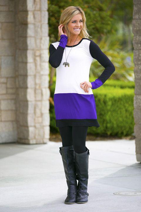 Tate Colorblock Tunic Dress