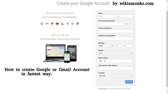 How to create google account for iphone