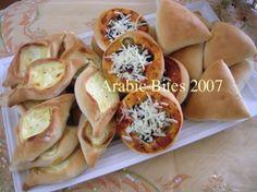 Fatayer...cream cheese fatayer,mini pizza,Feta Cheese +spinach ftayer.