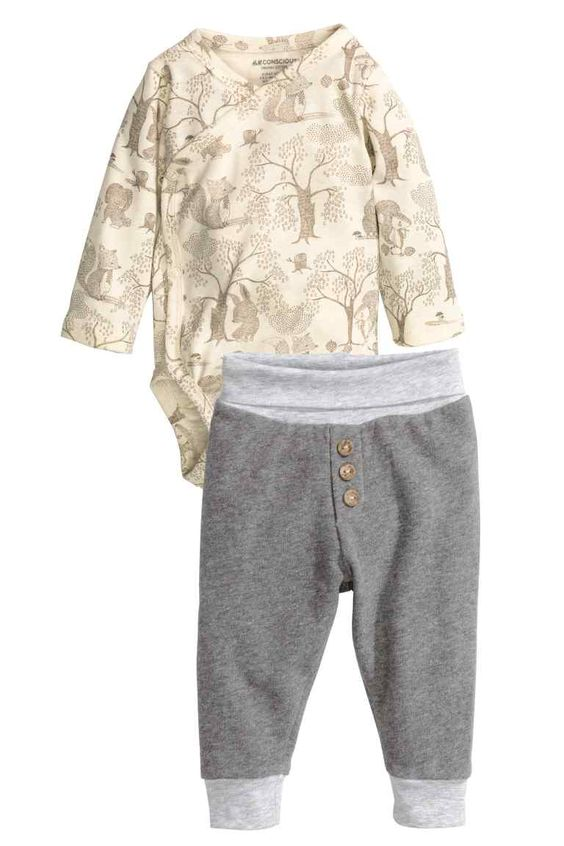Body cache-cœur et pantalon   H&M
