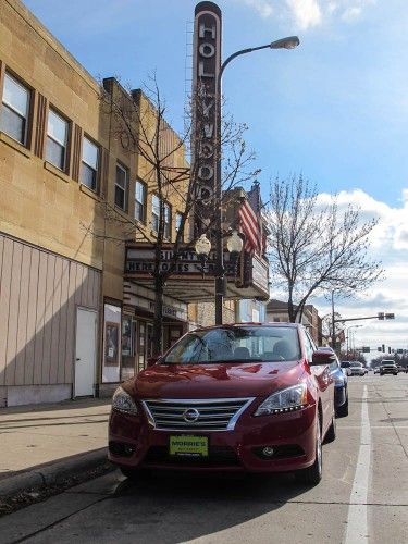 Downtown Litchfield in a 2013 Nissan Sentra