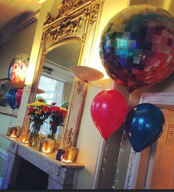 70's party disco balloons  St Julians Club