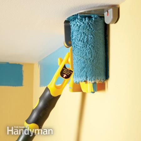best diy painting tools the family handyman brushes and ladder. Black Bedroom Furniture Sets. Home Design Ideas