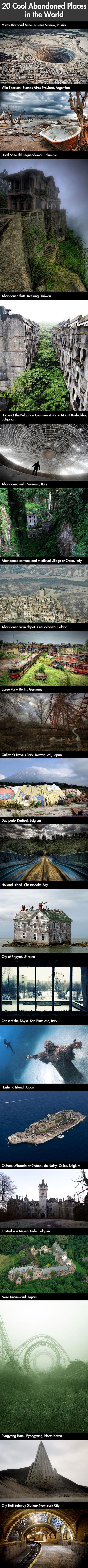 Amazing Abandoned Places In The World F U N F A C T S Pinterest Geek Culture Places To