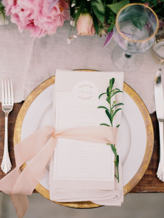 pink wedding reception decor idea; featured photo: Jessica Gold Photography via 100 Layer Cake