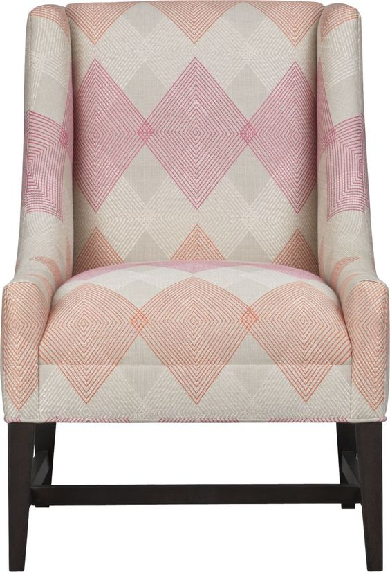 Chloe Argyle Chair | Crate and Barrel