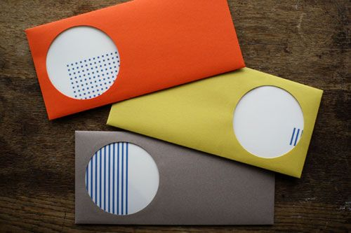 drop around round window envelope & card set