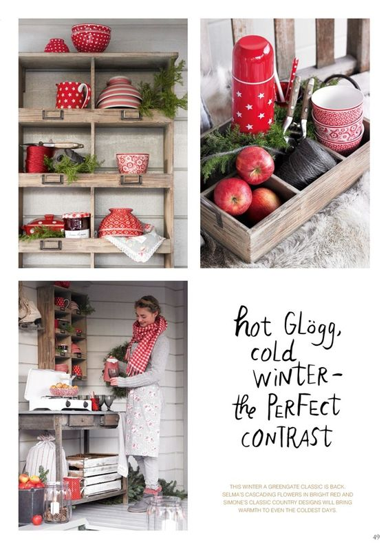 Greengate Europe xmas winter catalogue