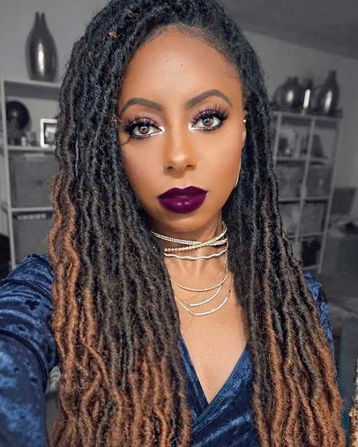 22 Latest Crochet Braids Hairstyles To Wear This Season 2019 Crochetbraided In 2020 Faux Locs Hairstyles Braided Hairstyles For Black Women Crochet Dreads