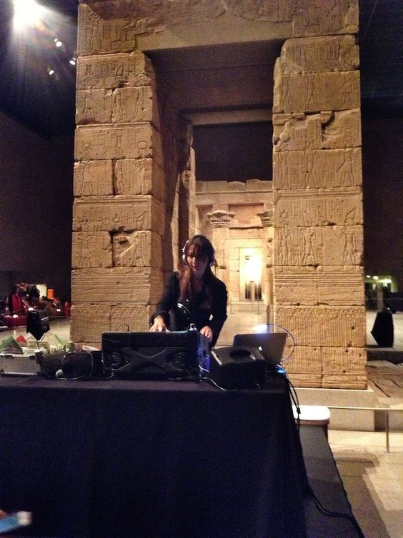 DJ-ing in the Temple of Dendur, At The Metropolitan Museum Of Art. Photo: