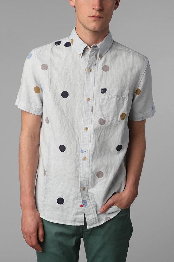Your Neighbors Short-Sleeved Noni Polka Dot Shirt