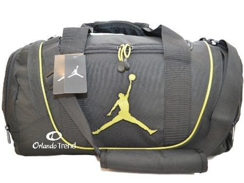 Nike Air Jordan Duffel Gym Bag Basketball Tote Black Green Duffle Shoe Men Women #Nike #Duffle #Basketball #OrlandoTrend #Jordan