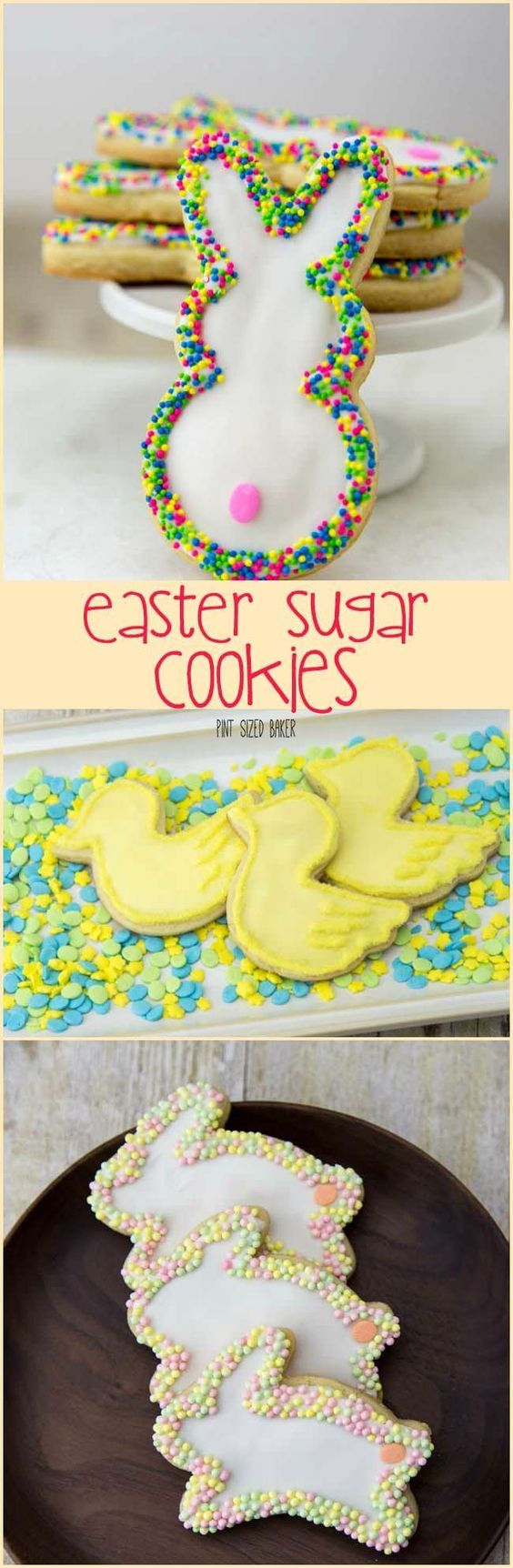 Adorable Easter Sugar Cookies sure were a hit in out household. No special tools or equipment required for these cookies.: