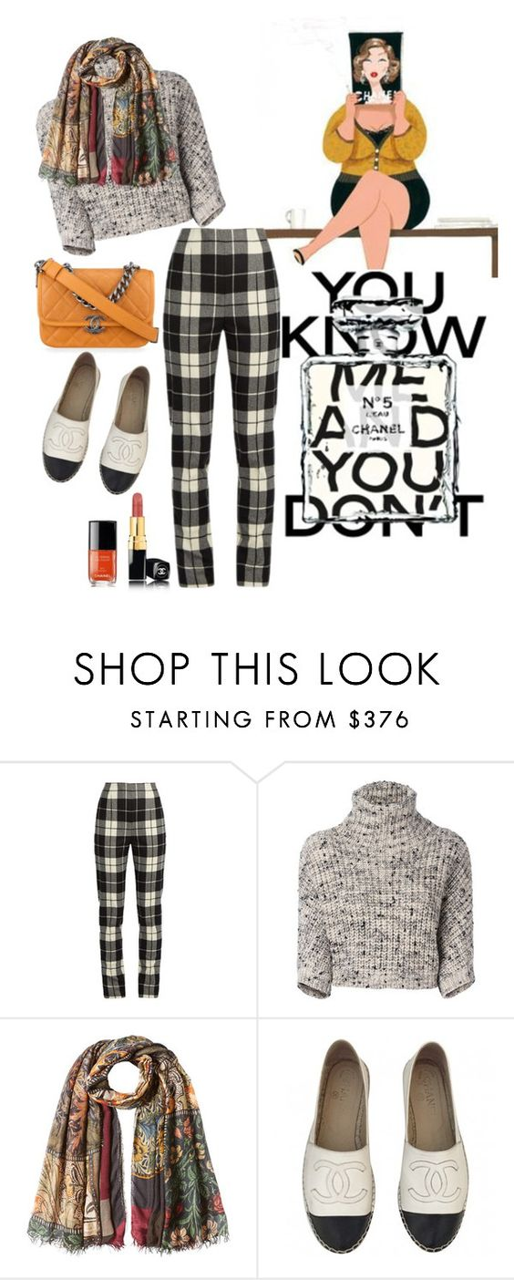 """""""~cropped sweater~"""" by confusgrk ❤ liked on Polyvore featuring Anja, MaxMara, Brunello Cucinelli, Faliero Sarti, Chanel and AmiciMei"""