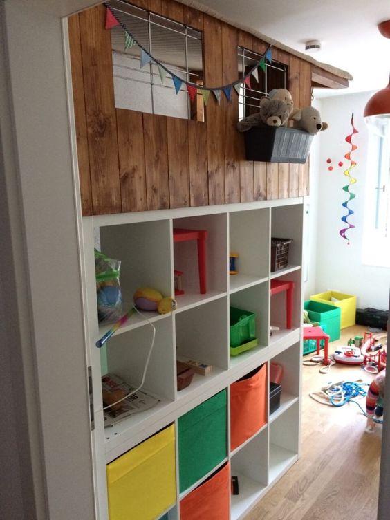 La Cabane En Bois Kallax Un Chateau Pour Enfants Cabane Bois Kallax Ikea Kallax