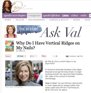 RIDGES IN NAILS—To Buff or Not To Buff? www.NailCareHQ.com ...Read why Oprah's Beauty Editor is WRONG!...