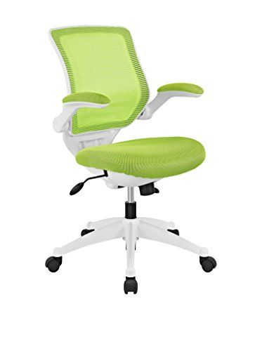 Modway Edge White Base Office Chair, Green