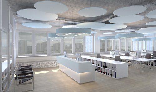 Visualisierung Fur Ein Grossraumburo Grossraumburo Wohnungsbau Planen