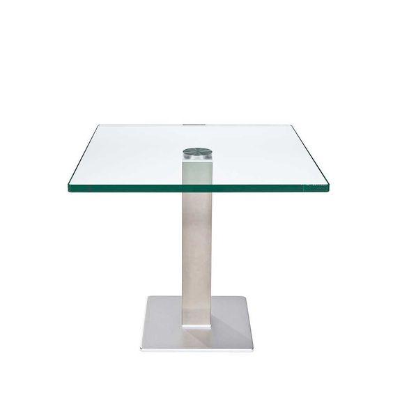 höhenverstellbarer beistelltisch aus glas 60 cm breit jetzt ... - Wohnzimmertische Aus Glas