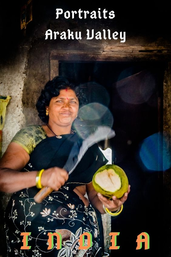 Portrait of Coconut Woman Araku