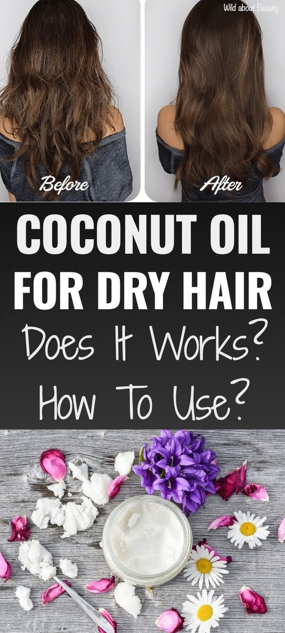 Coconut Oil For Dry Hair and Uses #coconutoilforhair #haircare #coconutoilbenefits