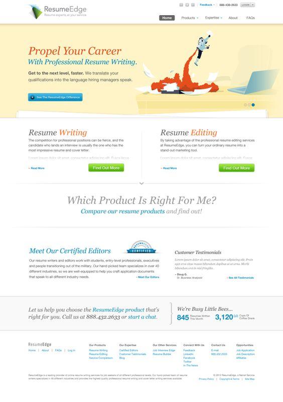 ResumeEdge Rebrand by Brandon Moller, via Behance Products I - resume edge
