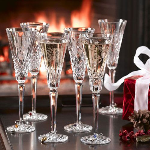 Waterford 12 Days of Christmas flute collection Crystal Stemware