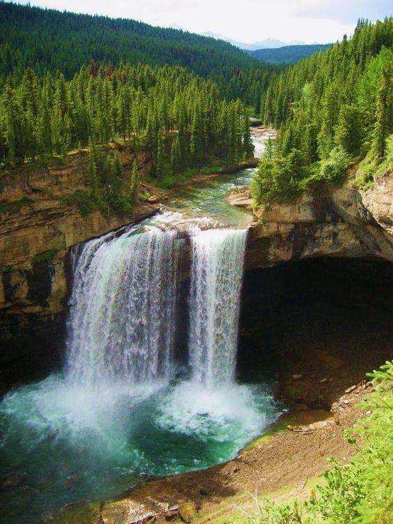 Kakwa Falls in Alberta, Canada:
