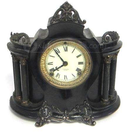 shopgoodwill.com: Vintage C.D. Peacock Metal Clock-Ansonia Movement
