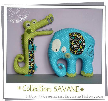 """Achille & Gontran... crocodile et éléphant pour bébé content !! (chouette tuto de """"Creenfantin"""")"""