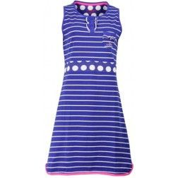 - Strange Effect - Horizontale strepen op blauw dames nachthemd
