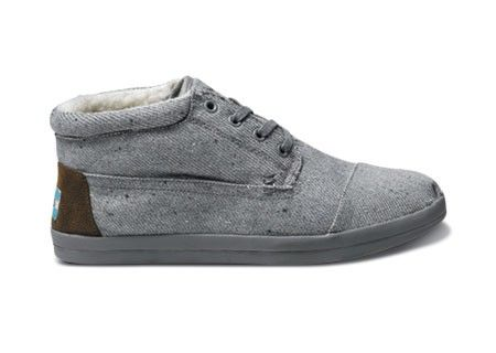 Toms Grey Wool Fleck Botas
