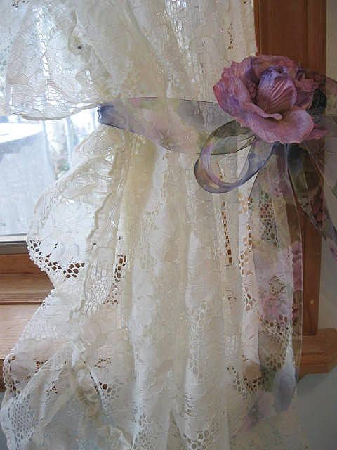 Lace Curtains Frilly Curtains Shabby Chic by mailordervintage