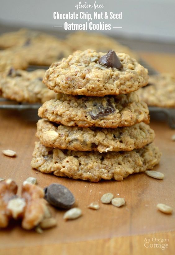 free Chocolate Chip, Nut & Seed Oatmeal Cookies- full of healthy oats ...