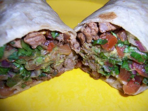 Carne Asada Burritos w/ Guacamole and Pico De Gallo  --Actually looks good!
