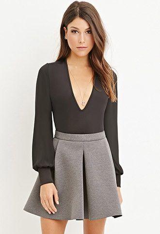 Minifalda Plisada Neopreno | Forever 21 - 2000173262
