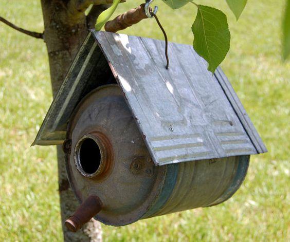 Vintage Bird House Shabby Handmade Bird House Vintage