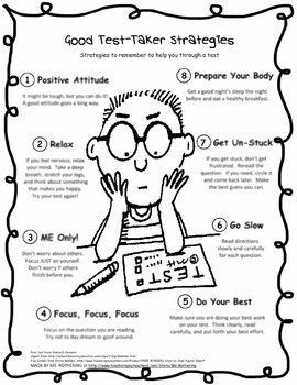 Test Taking Strategies - I would post this in my classroom to help alleviate performance anxiety during traditional assessments.  MIDDLE SCHOOL, HIGH SCHOOL