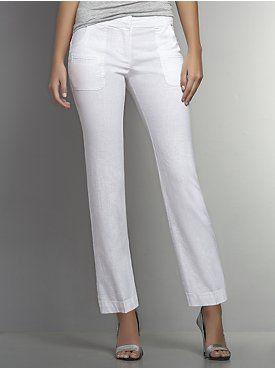 Linen Straight Leg Crop Pant