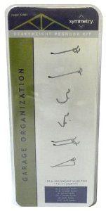 "28-PIECE Heavyweight Peg Hooks Value Pack by Symmetry. $3.99. Brand: Symmetry Model: 22001  INCLUDES  (6) 4"" Straight Hooks  (2) 6"" Straight Hooks  (8) Curved Hooks  (2) 4"" Double Hooks  (8) Angle Hooks  (2) 6"" Shelf Hooks"