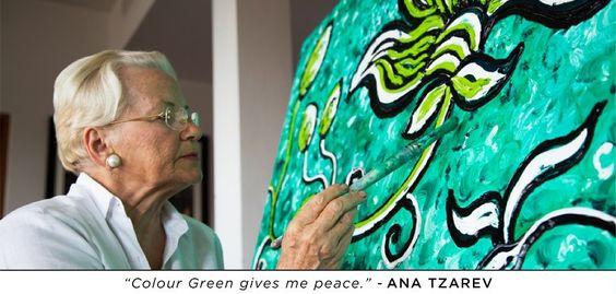 """""""Colour Green gives me Peace."""" - Ana Tzarev"""