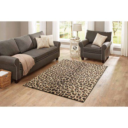 Better Homes and Gardens Cheetah Print Area Rugs or Runner, Beige