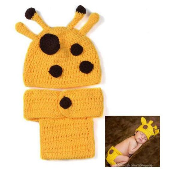 Adorable Little Giraffe Crochet Set Photography Prop